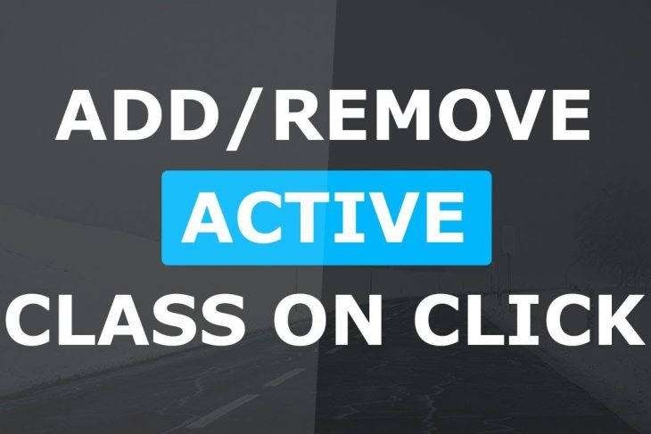 Add Remove Active Class On Click – Html CSS and Javascript