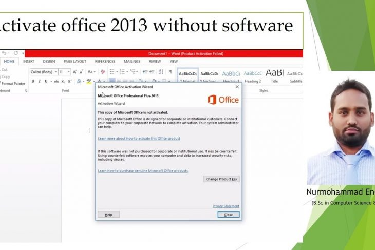 Activate Office 2013 for FREE Without any software,office 2013 activation without software